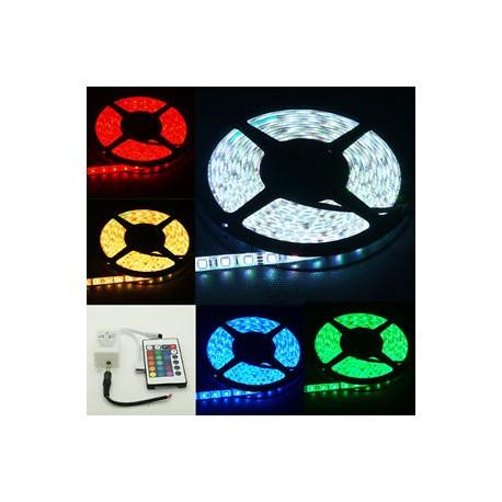 Εύκαμπτη Αδιάβροχη Ταινία LED 5Μέτρων RGB με Τηλεχειριστήριο