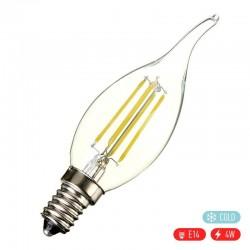 Βιδωτή ρετρό λάμπα - κερί φλόγα LED E14/4W/400lm με ψυχρό φως