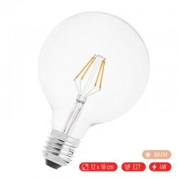 Βιδωτή ρετρό λάμπα LED E27/4W με θερμό φως