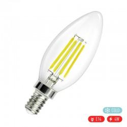 Βιδωτή ρετρό λάμπα LED E14/4W με ψυχρό φως