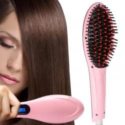 Θερμαινόμενη βούρτσα ισιώματος μαλλιών με οθόνη LCD