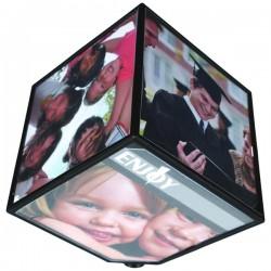 Περιστρεφόμενη Κορνίζα 360 μοιρών Κύβος 15x15cm για 6 Φωτογραφίες