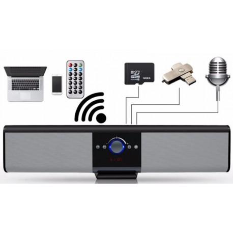 Φορητό ηχείο Super Bass - ραδιόφωνο με Bluetooth και εισόδους USB/microSD card/AUX