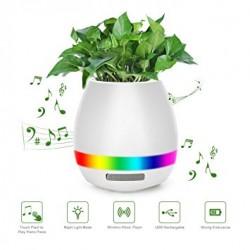 Επαναφορτιζόμενο Bluetooth ηχείο με LED φωτισμό σε γλαστράκι