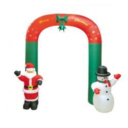 Χριστουγεννιάτικο Φουσκωτό Άγιος Βασίλης & χιονάνθρωπος