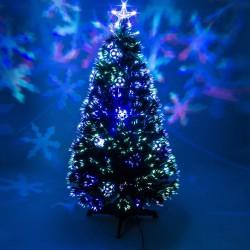 Χριστουγεννιάτικο Δέντρο Έλατο 60cm Με Οπτικές Ίνες
