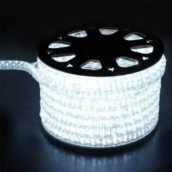 Φωτοσωλήνας LED Πλακέ Διάφανος Λευκό Φως Με Το Μέτρο