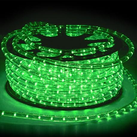 Φωτοσωλήνας LED Πλακέ Διάφανος Πράσινο Φως Με Το Μέτρο