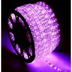 Φωτοσωλήνας LED Πλακέ Διάφανος Μωβ Φως Με Το Μέτρο