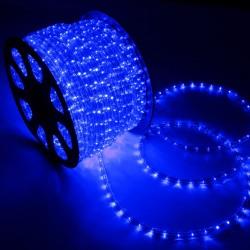 Φωτοσωλήνας LED Πλακέ Διάφανος Μπλε Φως Με Το Μέτρο