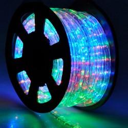 Φωτοσωλήνας LED Πλακέ Διάφανος RGB Φως Με Το Μέτρο