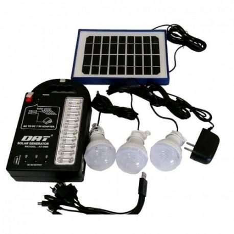 Σύστημα Φωτισμού με Ηλιακό Πάνελ, 3 Λάμπες LED & Φακό