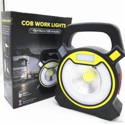 Ηλιακός- επαναφορτιζόμενος φακός COB WORK LIGHTS