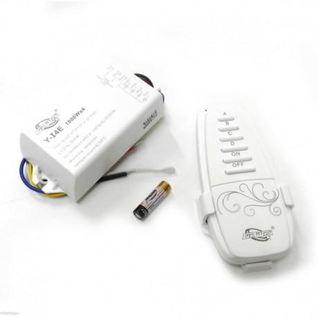 Ασύρματο τηλεχειριστήριο - controller φωτισμού on/off με 4 κανάλια φωτισμού Fomsi