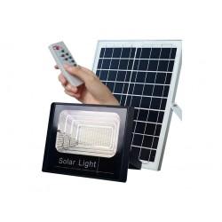 Ηλιακός Solar Προβολέας Αδιάβροχος 60W με Φωτοβολταϊκό Πάνελ, Τηλεκοντρόλ και Χρονοδιακόπτη