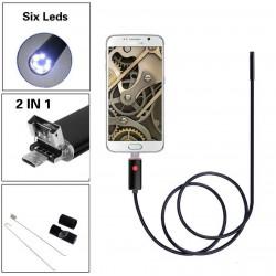 Αδιάβροχη Ενδοσκοπική κάμερα Η/Υ με 6 LED usb με 5 μέτρα καλώδιο ANDROID