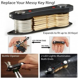 Κλειδοθήκη Μπρελόκ Key Ninja Με LED Φακό