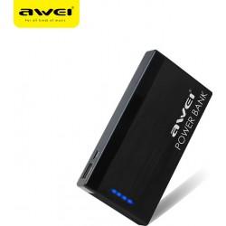 Power Bank 10000mAh με TYPE-C USB 2.1A και 1x USB 2.1A  Awei