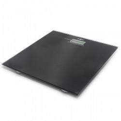 Ψηφιακή ζυγαριά Sapir , γυάλινη, 180 kg οθόνη 22 mm και πλατφόρμα 6 mm, Μαύρη