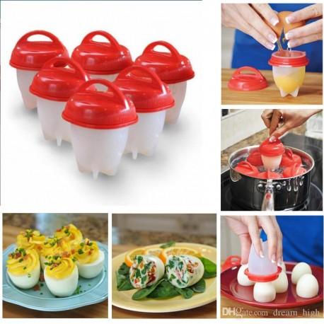 Σετ 6 Τεμαχίων για Βράσιμο Αυγών Silicone Egg Boil