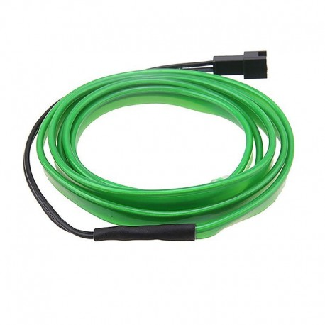 Εύκαμπτο LED καλώδιο 2m για την εσωτερική διακόσμηση κάθε αυτοκινήτου - El wire - Πράσινο