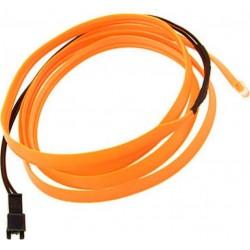 Εύκαμπτο LED καλώδιο 2m για την εσωτερική διακόσμηση κάθε αυτοκινήτου - El wire - Πορτοκαλί