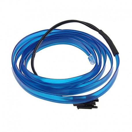 Εύκαμπτο LED καλώδιο 5m για την εσωτερική διακόσμηση κάθε αυτοκινήτου - El wire - Μπλε