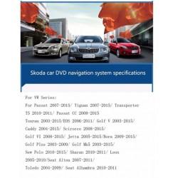 Ηχοσύστημα Αυτοκινήτου 2DIN  Volkswagen/Skoda/Seat  8inch