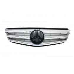 Μάσκα Εμπρός Mercedes Benz W204 C-Class (07-11) SPORT Ασημί