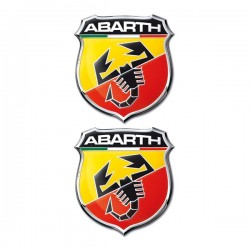 Abarth Αυτοκόλλητα 2,5×2,2cm Σμάλτου 2ΤΕΜ.