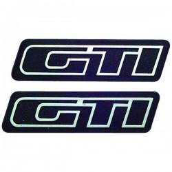 Σήματα αυτοκόλλητα GTI ασημί II μεσαία