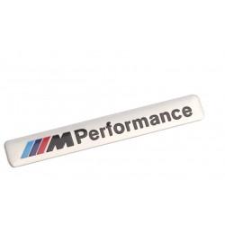 Αυτοκόλλητο ανάγλυφο ΒΜW M performance Aσημί