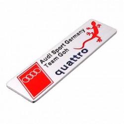 Αυτοκόλλητο Μεταλλικό Audi Sport