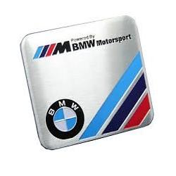 Αυτοκόλλητο Μεταλλικό Bmw Motosport Τετράγωνο