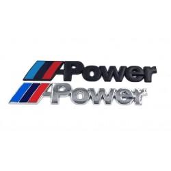 Αυτοκόλλητο Μεταλλικό M-Power [Χρώμιο]