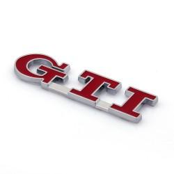 Αυτοκόλλητο ανάγλυφο GTI [Κόκκινο]