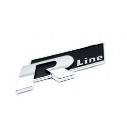R-Line Μεταλλικό Αυτοκόλλητο Μαύρο