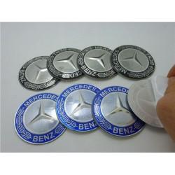 Αυτοκόλλητα Ζαντών Mercedes 4τεμ Μαύρο Ασημί