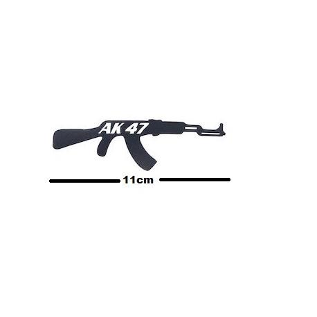 Αυτοκόλλητο Όπλο AK-47 Μαύρο ST-022