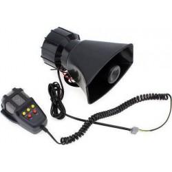 Κόρνα αυτοκινήτου 50W/300dB με 3 ήχους και μικρόφωνο