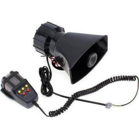 Κόρνα αυτοκινήτου 100W/320dB με 7 ήχους και μικρόφωνο