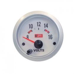 Όργανο Auto Gauge Βολτόμετρο Λευκό/Λευκό Φως
