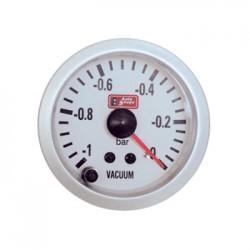 Όργανο Auto Gauge Οικονομόμετρο Vacuum Λευκό/Λευκό Φως