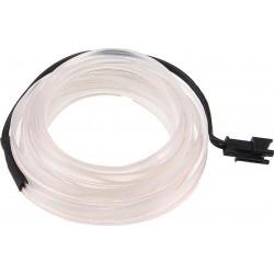 Εύκαμπτο LED καλώδιο 2m για την εσωτερική διακόσμηση κάθε αυτοκινήτου - El wire - Λευκό