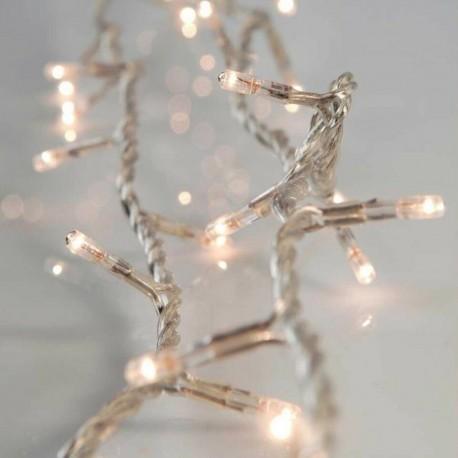 100 LED Χριστουγεννιάτικα Λαμπάκια Με Άσπρο Καλώδιο