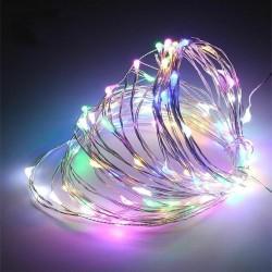 100 Λαμπάκια LED Πολύχρωμα με Προγράμματα, Σειρά, Ρεύματος 10m