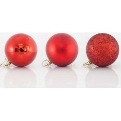 Στολίδι Μπάλα κόκκινο χρώμα 4x4cm 8τμχ