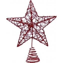 Χριστουγεννιάτικο Στολίδι Κορυφή Δέντρου 24εκ Κόκκινο