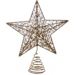 Χριστουγεννιάτικο Στολίδι Κορυφή Δέντρου 24εκ Χρυσό