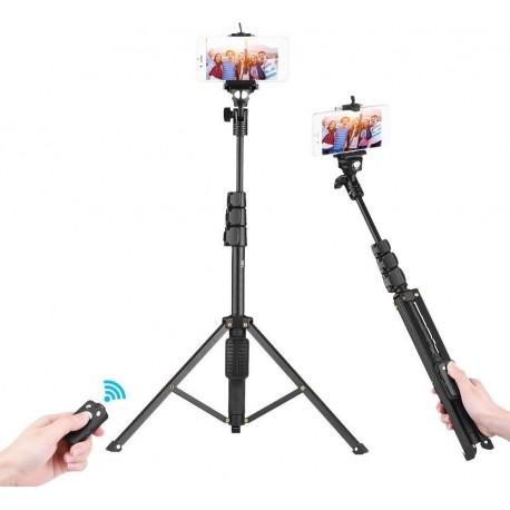 Ασύρματο Bluetooth Selfie Stick Andowl Q-L1388 με Τρίποδο (Μαύρο)